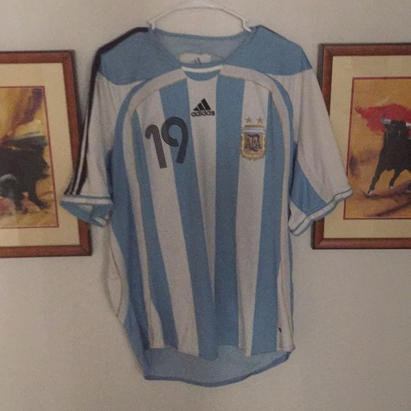 2acc28c69cfac adidas Shirts | Official Argentina Messi 19 Jersey World Cup 2006 ...